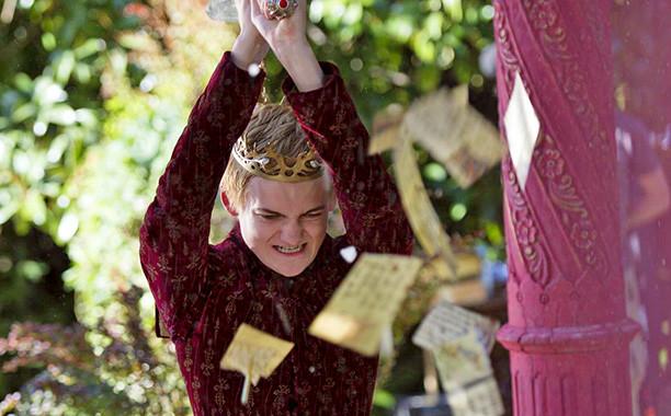 Jack Gleeson dans le rôle de Joffrey Baratheon dans la série Game of Thrones (HBO).